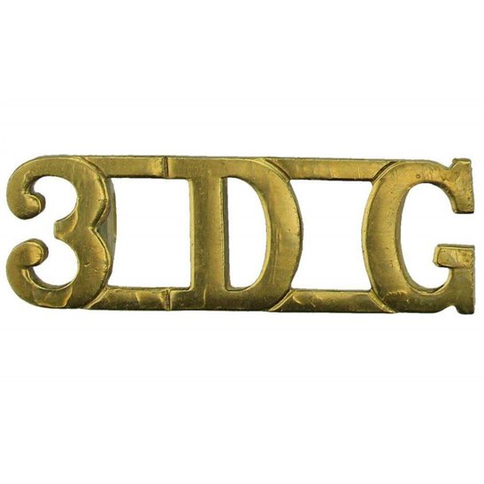 3rd Dragoon Guards 3rd Dragoon Guards Regiment 3DG Shoulder Title