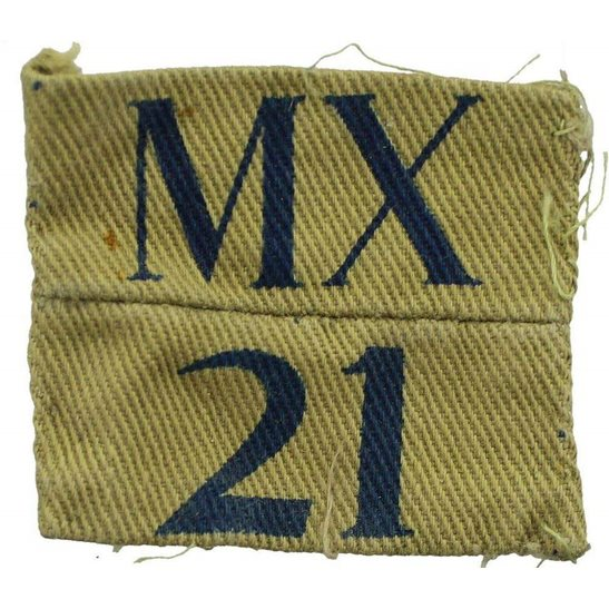 Home Guard WW2 Home Guard 21st Middlesex Unit Cloth Shoulder Title Insignia Badge