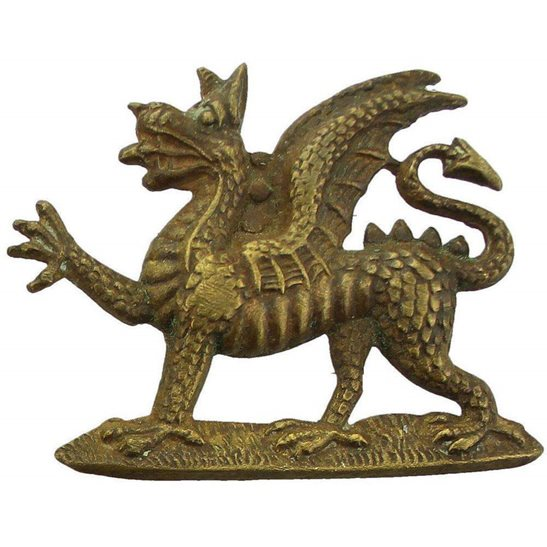 Buffs (Royal East Kent) Royal East Kent (The Buffs) Regiment Collar Badge