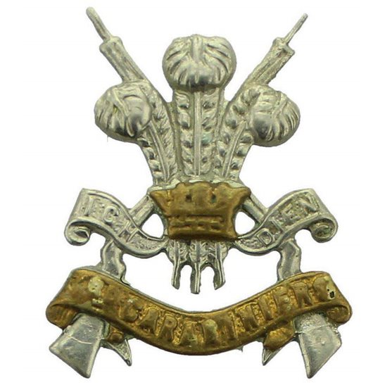 3rd Carabiniers WW2 3rd Carabiniers Regiment Collar Badge