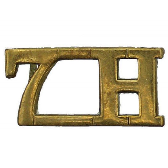 7th Hussars WW1 7th Hussars Regiment Shoulder Title