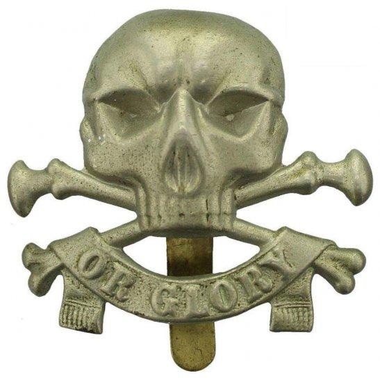 17th / 21st Lancers WW1 17th / 21st Lancers (Deaths Head) Regiment Cap Badge - FIRMIN LONDON