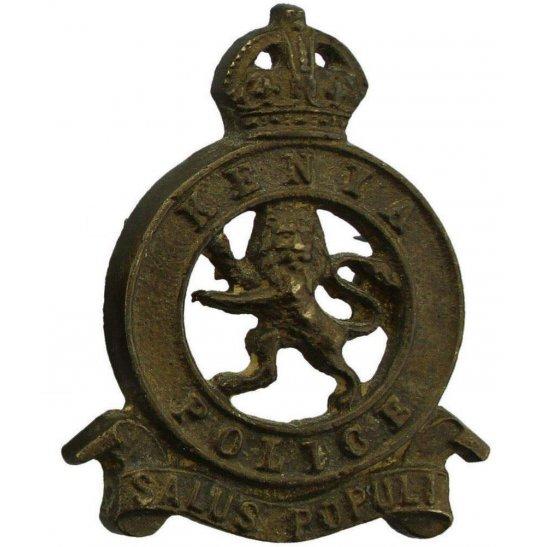 Kenyan British Colonial Police Force Kenya Cap Badge