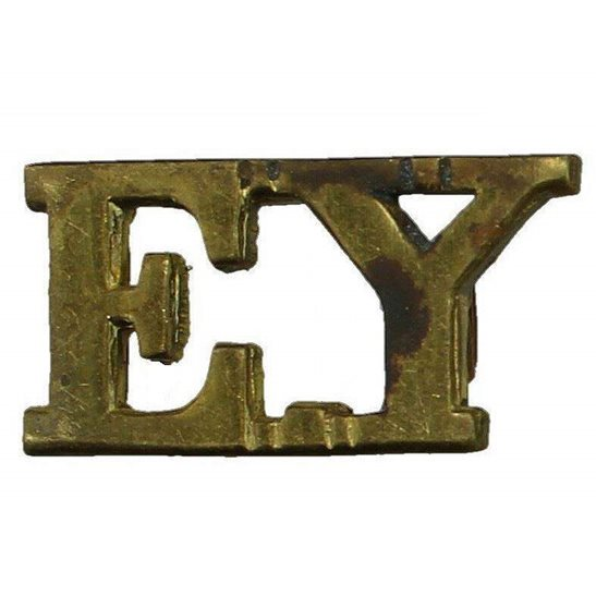 Essex Yeomanry Essex Yeomanry Regiment EY Shoulder Title