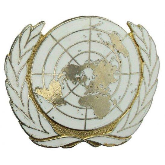 930efaf26a454 United Nations UN Blue Beret Metal   Enamel Cap Badge