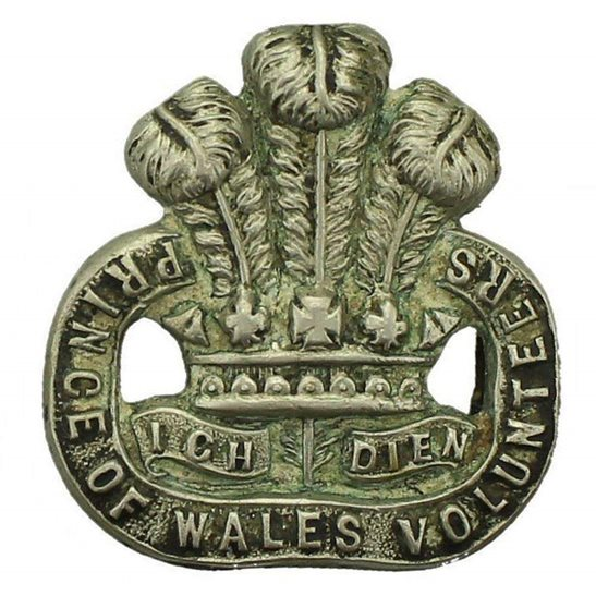 South Lancashire WW1 South Lancashire Regiment WHITE METAL Volunteers Collar Badge