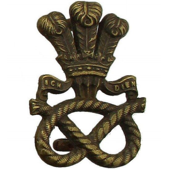 North Staffordshire North Staffordshire Regiment OFFICERS Bronze Collar Badge