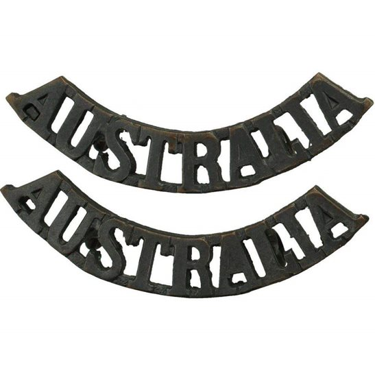WW1 Australian Army WW1 Australian Division / Australia Corps Shoulder Title PAIR