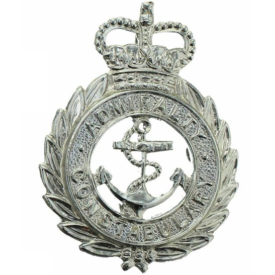 Admiralty Constabulary Admiralty Constabulary Cap Badge Royal Navy Police - Queens Crown