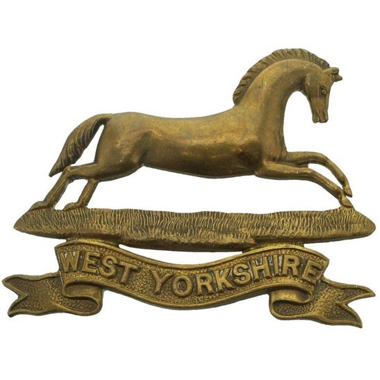 West Yorkshire West Yorkshire Regiment OFFICERS Bronze Collar Badge
