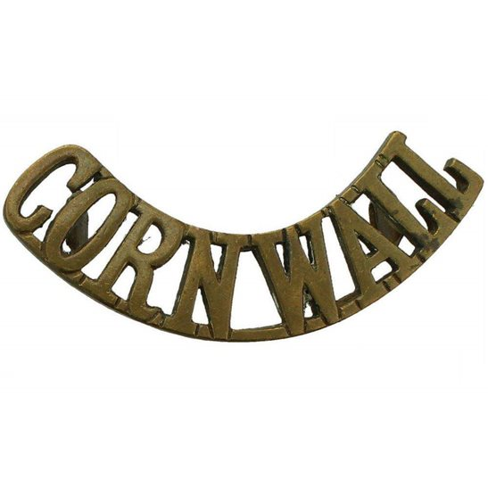 Duke of Cornwalls Light Infantry DCLI WW1 Duke of Cornwalls Light Infantry Regiment (Cornwall's) Shoulder Title