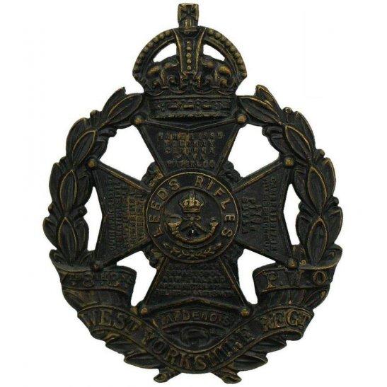 West Yorkshire WW1 7th & 8th (Leeds Rifles) Battalions, West Yorkshire Regiment Cap Badge