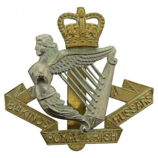 8th Hussars 8th Kings Royal Irish Hussars Regiment (King's) Cap Badge - Queens Crown