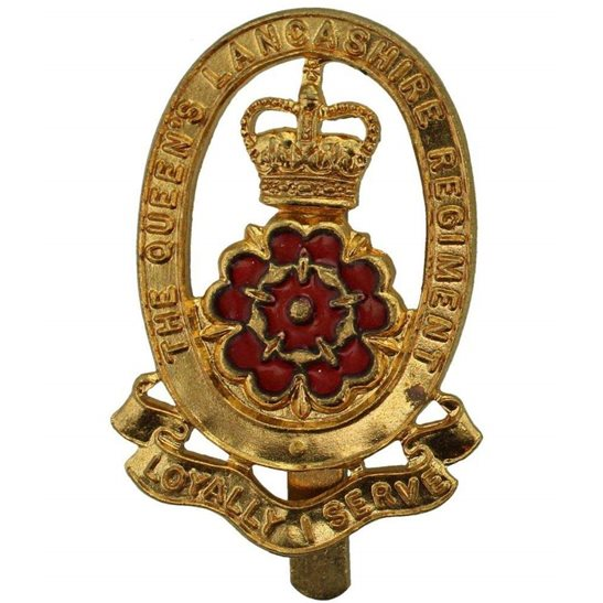 Queen's Lancashire Regiment Cap Badge - Queens Crown