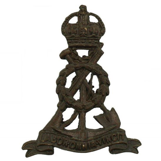 Labour Corps WW1 Labour (Pioneer) Corps OFFICERS Bronze Collar Badge