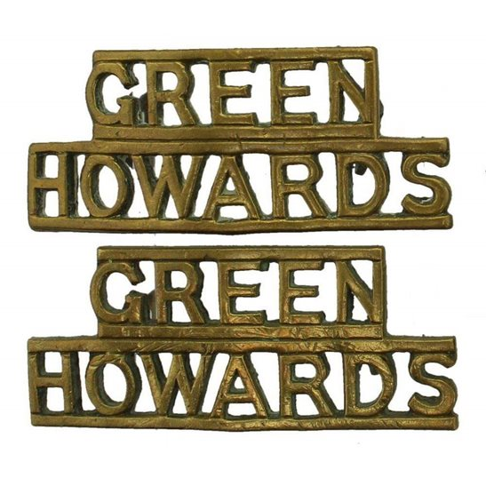 Yorkshire (Green Howards) WW2 Green Howards (Yorkshire) Regiment Shoulder Title PAIR