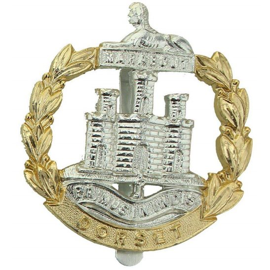 Dorset Regiment Dorset Regiment Dorsetshire Staybrite Anodised Cap Badge - Staybright