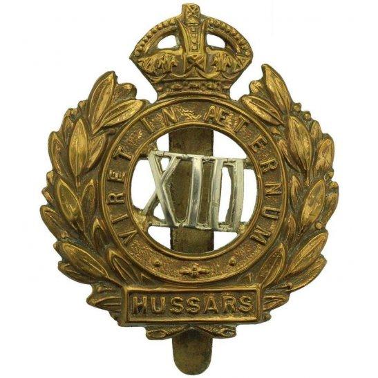 13th Hussars WW1 13th Hussars Regiment Cap Badge