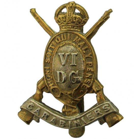 6th Dragoon Guards WW1 6th Dragoon Guards (Carabiniers) Regiment Cap Badge