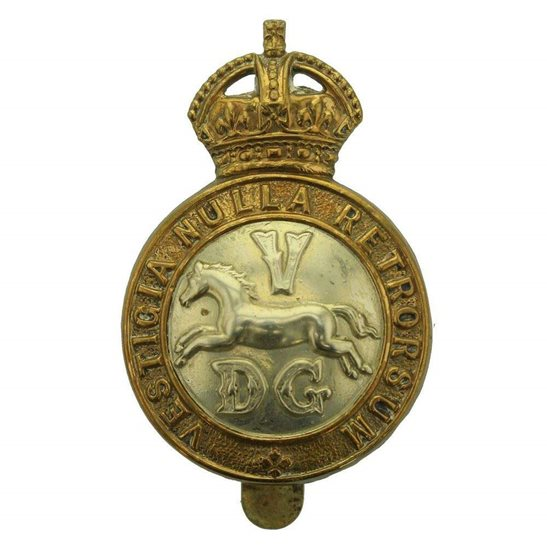 5th Dragoon Guards WW1 5th Dragoon Guards Regiment Cap Badge