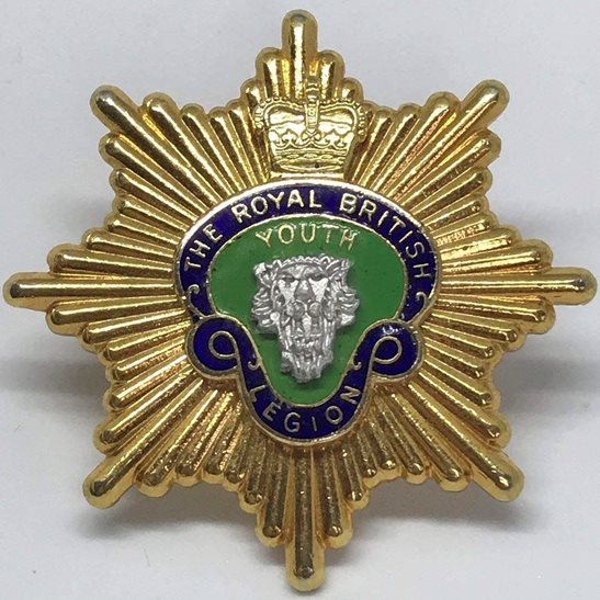 1f5f97bbb01 Royal British Legion RBL Youth Wing Cap Badge - Queens Crown