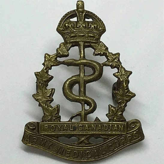 WW2 Canadian Army WW2 Royal Canadian Army Medical Corps RCAMC Canada CEF Cap Badge