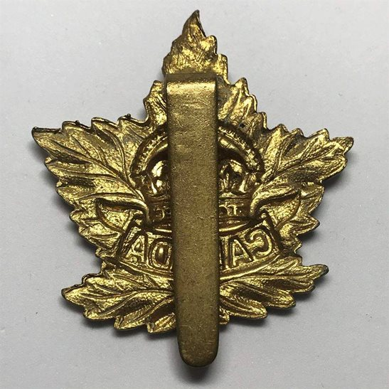 additional image for WW2 Canadian Army Division / Canada Corps CEF Cap Badge - SLIDER VERSION
