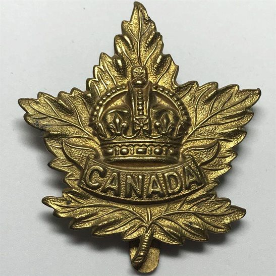 WW2 Canadian Army WW2 Canadian Army Division / Canada Corps CEF Cap Badge - SLIDER VERSION