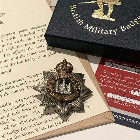 additional image for Devonshire Regiment Devon Cap Badge in Presentation Gift Box