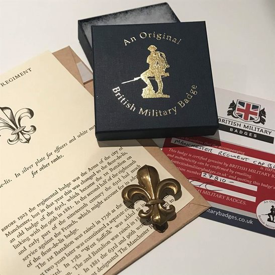 Manchester Regiment Manchester Regiment Cap Badge in Presentation Gift Box