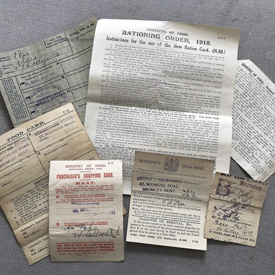 additional image for Collection of WW1 Ration Booklets and Home Front Rationing Documents