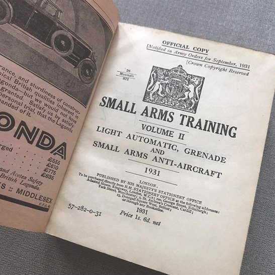 additional image for British Army Small Arms Weapon Training Manual Book 1931 Volume 2