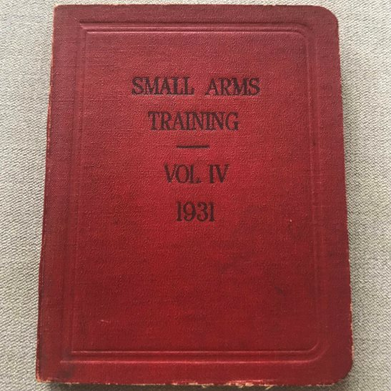 British Army Small Arms Weapon Training Manual Book 1931 Volume 4