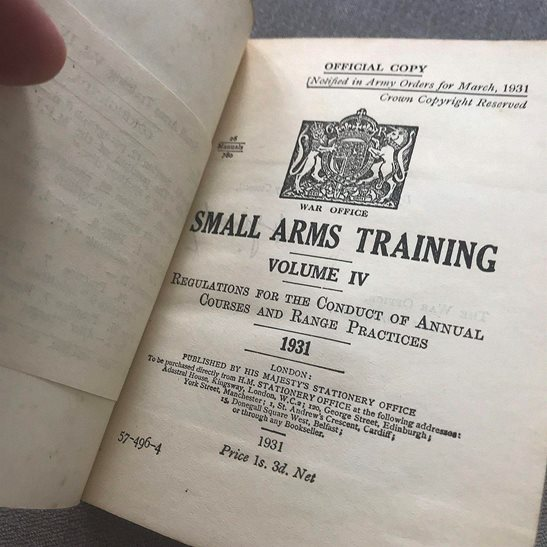 additional image for British Army Small Arms Weapon Training Manual Book 1931 Volume 4