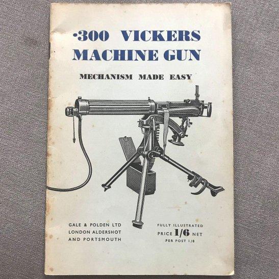 British Army .300 Vickers Machine Gun Mechanism Manual Guide Book