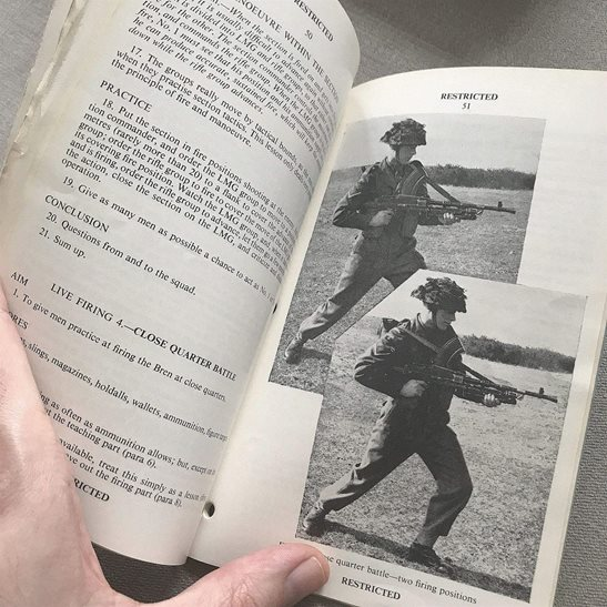 additional image for British Army Light Machine Gun Section Handling Infantry Training Manual Book 1968