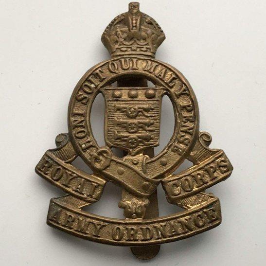 Royal Army Ordnance Corps RAOC WW2 Royal Army Ordnance Corps RAOC Cap Badge