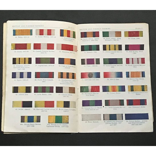 additional image for British & Foreign Ribbons Guide Booklet to Ribbon Bars including WW1 & WW2 etc.