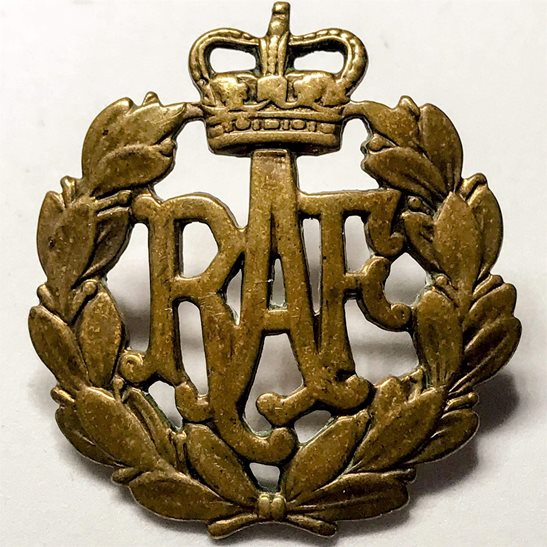 Royal Air Force RAF POST 1953 Royal Air Force RAF Cap Badge - Queens Crown
