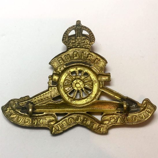 additional image for WW2 Royal Artillery Regiment Cap Badge - LUGS VERSION