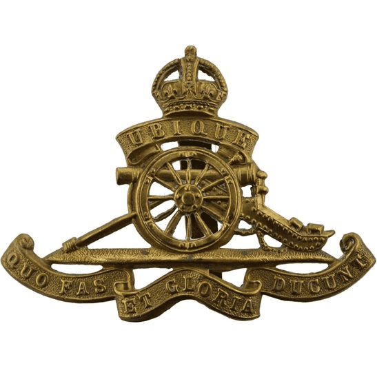 Royal Artillery WW1 Royal Artillery Regiment Cap Badge STRENGTHENED SLIDER VERSION