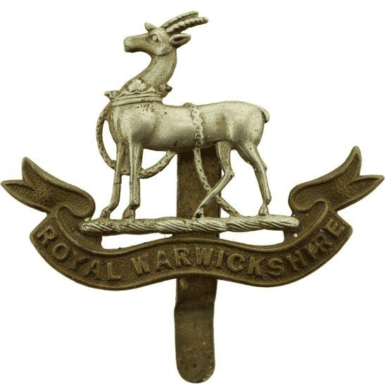 Royal Warwickshire WW1 Royal Warwickshire Regiment Cap Badge