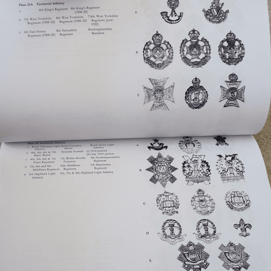 additional image for WW1 & WW2 750+ British Army Cap Badge Collectors Identification Reference Book
