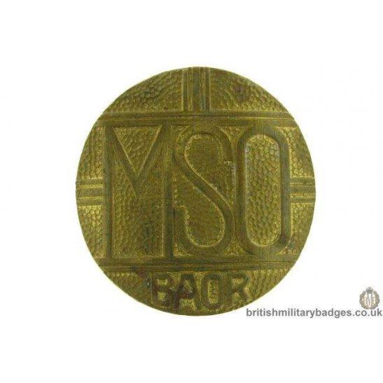 Mixed Services Organisation British Army Of Rhine Mso Baoc Cap Badge