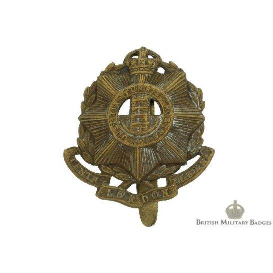 10th Hackney Battalion County of London Regiment Cap Badge