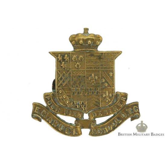 Emanuel School OTC Officers Training Corps Cap Badge