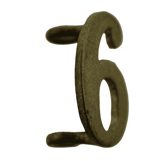 additional image for 6th Territorial Battalion 6 Insignia Number Shoulder Title - Measures 20mm