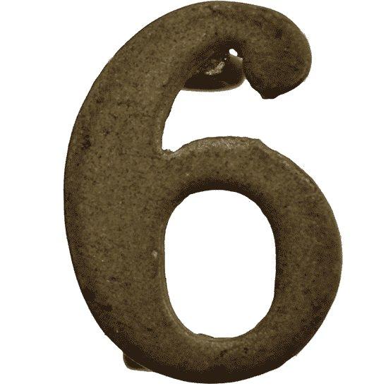 6th Territorial Battalion 6 Insignia Number Shoulder Title - Measures 20mm