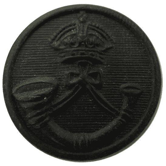 Rifle Brigade The Rifle Brigade (Prince Consort's Own) Regiment PLASTIC Tunic Button - 23mm