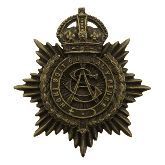 Army Service Corps ASC WW1 Army Service Corps ASC OFFICERS Bronze Cap Badge